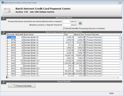 Internet Credit Card Payment Center